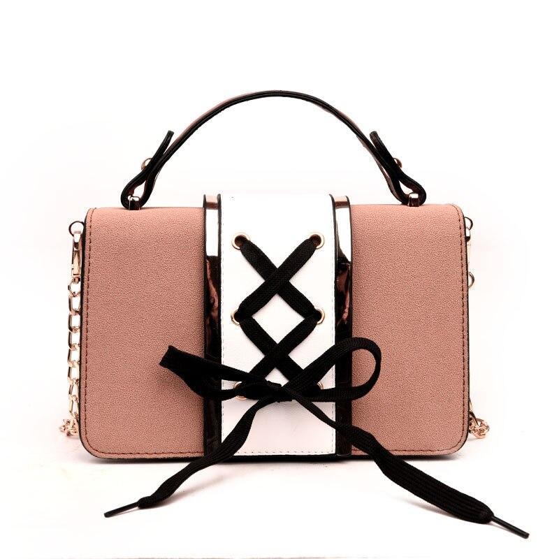 Female Bag Bow Designer Ladies Messenger Bag Handbag Ladies Leather Shoulder Bag 2018 High Quality Fashion PU Leather Handbag shoulder bag