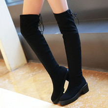 Ms. Autumn 2016 Was Thin Boots Knee Length Boots With High Boots Stretch Velvet Boots Shoes