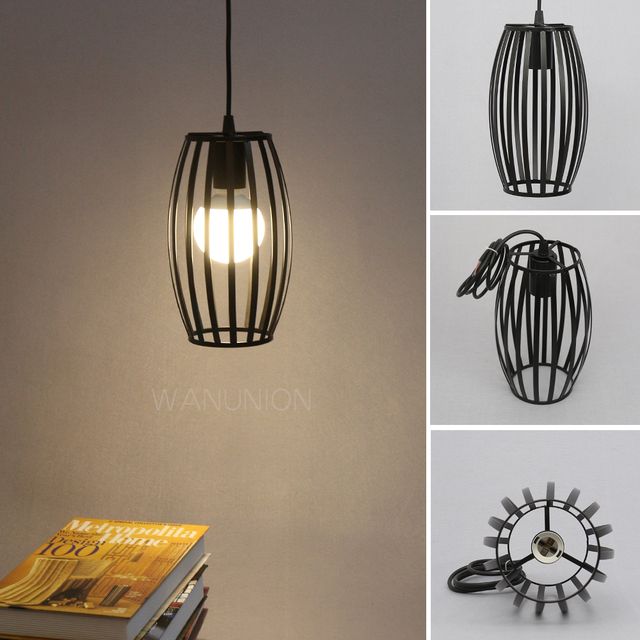 Retro vintage edison pendant light bulb iron guard wire cage ceiling retro vintage edison pendant light bulb iron guard wire cage ceiling hanging light fitting bar cafe greentooth Images