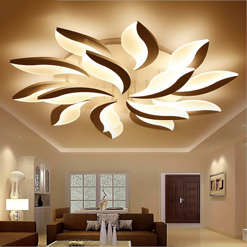Remote led ceiling lights Modern for bedroom dimmer ceiling lamps acrylic aluminum body light fixture for 8-35square meters remote led ceiling lights modern for bedroom dimmer ceiling lamps acrylic aluminum body light fixture for ac90 260v dining room