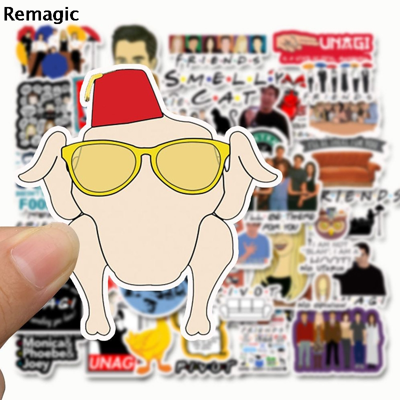 50pcs Friends tv show letter anime vintage paster gift toy cosplay funny decal scrapbooking diy stickers phone laptop waterproof in Stickers from Home Garden