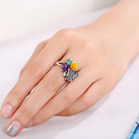 Rings Chinese Style925 Silver Ring Folk custom Jewelry Womens Girls Jewelry Rings Gift