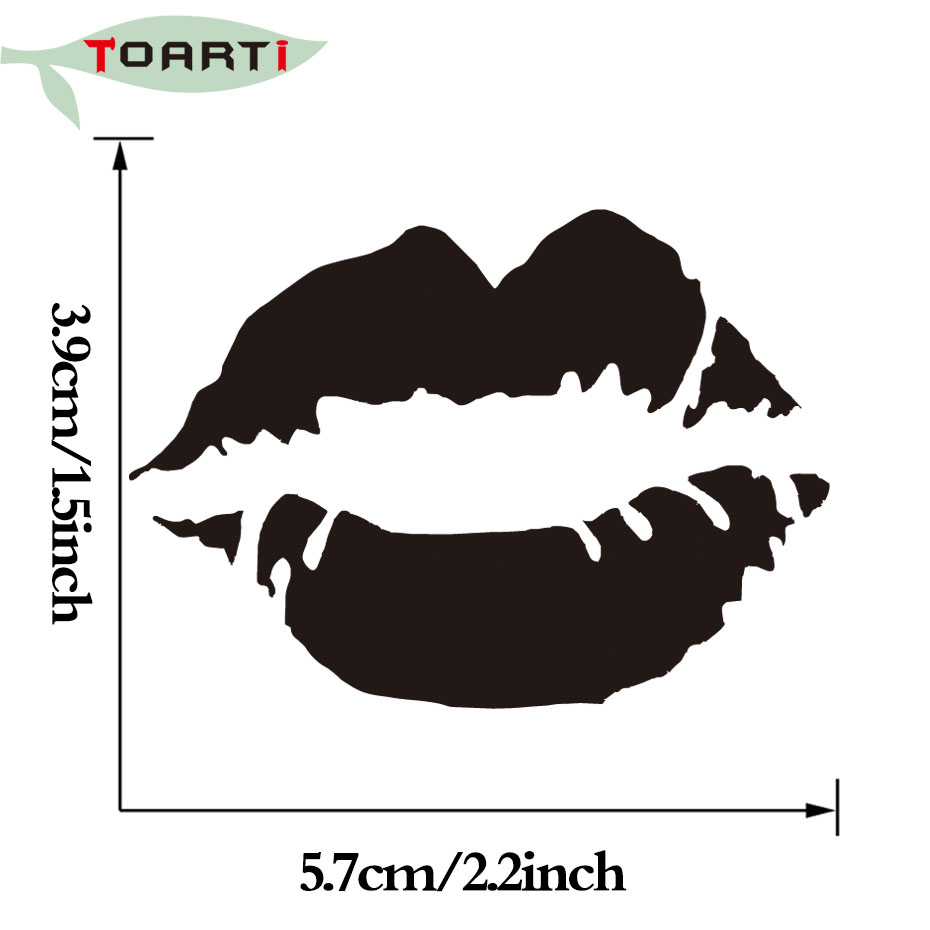 5.7 * 3.9CM Dodaqlar Kiss Dodaq Boyası Vinil Dekal Avtomobil - Avtomobilin xarici aksesuarları - Fotoqrafiya 5