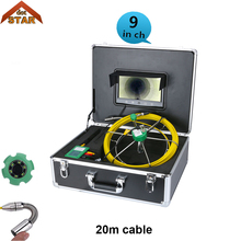 Industrial Surveillance Camera 20mPipe Wall Sewer Inspection Camera System Industrial Pipe Car Video Inspection Endoscope Camera