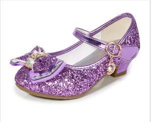 Image 4 - Bloem Kinderen Sandalen Knoop Leren Schoenen Prinses Meisje Schoenen Voor Kinderen Glitter Wedding Party Sandalia Infantil Chaussure Enfant