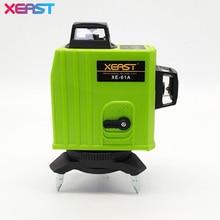XEAST XE-61A Vert 3D 12 Lignes Laser Niveaux Auto-Nivellement 360 Horizontal Et Vertical Croix Super Puissant Vert Laser faisceau Ligne