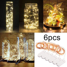 100% Brand New High Quality 6 Pack Battery Micro Rice Wire Copper Fairy String Lights Party 2M With 20LED Drop Shipping(China)