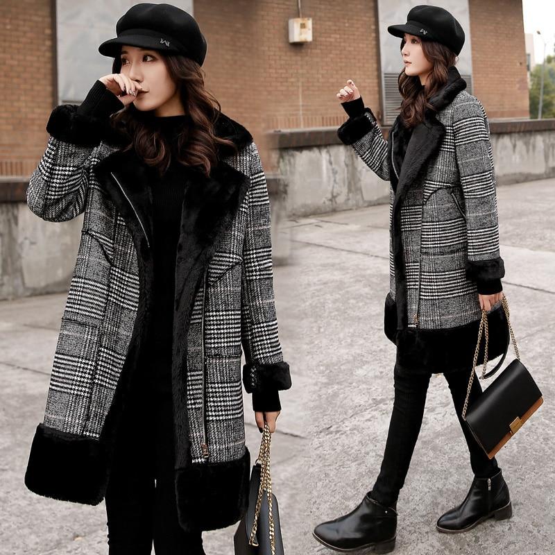 Laine Veste Mode Femme De Manteau Gris Longue Qualité Mélange En D'hiver Femmes Cachemire 2018 Cardigan Haute Lâche Manteaux Vestes IAEHqxdyw
