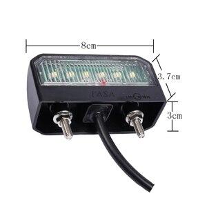 Image 2 - 1 pieza LED placa de matrícula impermeable 12 24 V lámpara de placa de número resistente a los golpes para camión remolque motocicleta luces LED