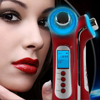 Beauty Facial Cleansing Ultrasonic Iontophoresis Instrument Vibration Massage Photorejuvenation Whitening Wrinkles Massager