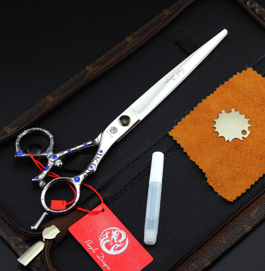 8inch Diamond Handle Pet Grooming Scissors with moving thumb hole/Dog shear with Leather Case cricket limited edition roc it dog shimmering night duo 5 shear & thinning shear with custom centrix shear case