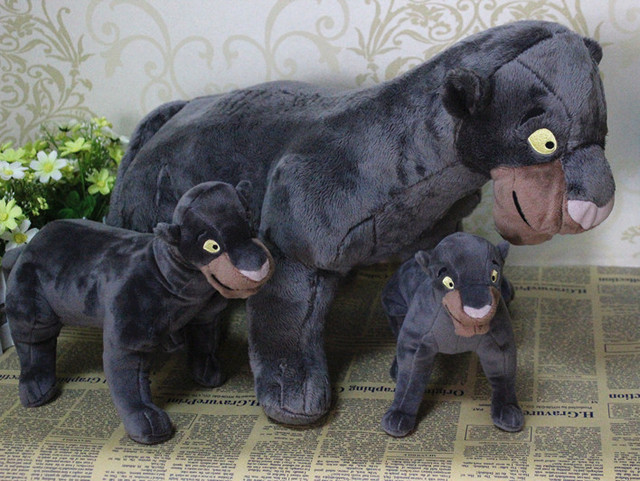 1pc 28cm 20cm The Jungle Book Bagheera Black Panther Kaa Boa Snake