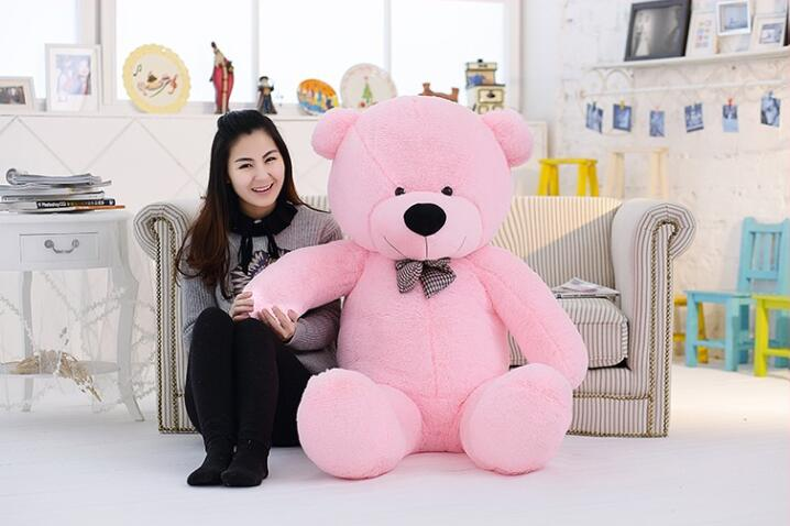 New 160cm 1.6m giant teddy bear plush toys children cute soft peluches baby doll big stuffed animals big sale birthday gift 2018 huge giant plush bed kawaii bear pillow stuffed monkey frog toys frog peluche gigante peluches de animales gigantes 50t0424