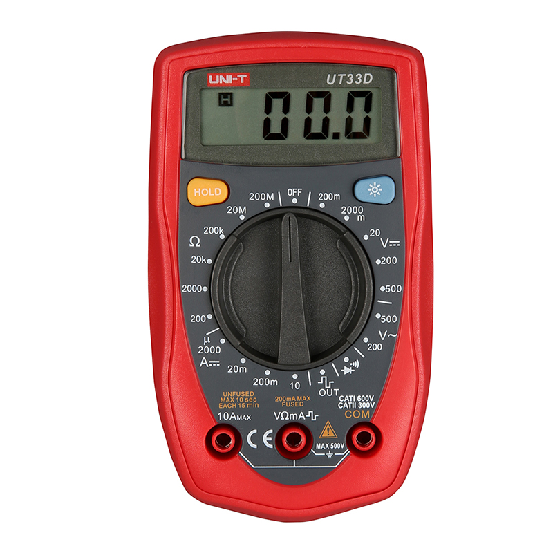 Hand Held Ohmmeter : Ut d handheld multimeter ammeter ohm volt meter digital