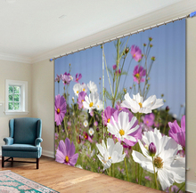 New Flowers  butterflies Printing Luxury 3D Blackout Curtains For Living room Bedding room Drapes Cotinas para sala Home Decorat