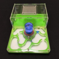 L Size Plane Design 9color Available Ant Farm Acrylic Moisture With Feeding Area Insect Ant Villa