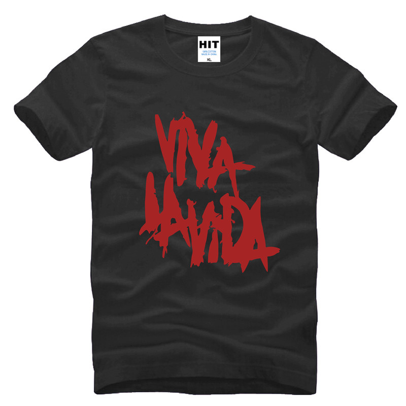 Rock coldplay Viva la vida lös T-shirt herr T-shirt för män 2015 - Herrkläder - Foto 2