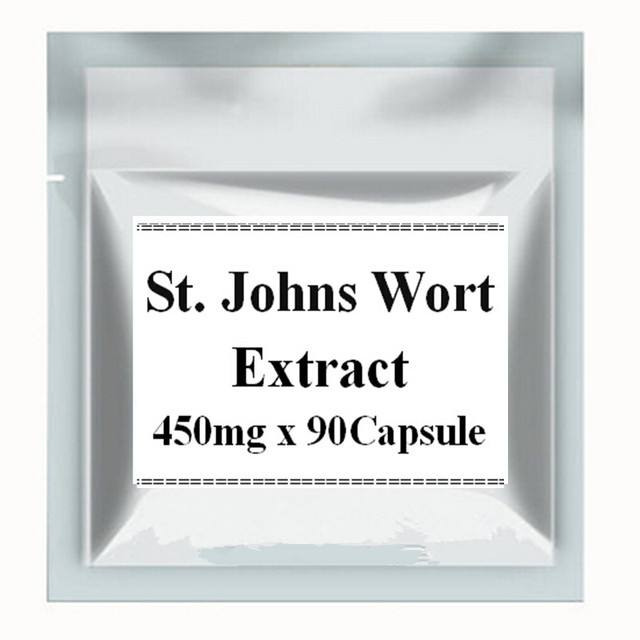 1 Paquete de hierba de San Juan Extracto de 450 mg X 90 Cápsulas
