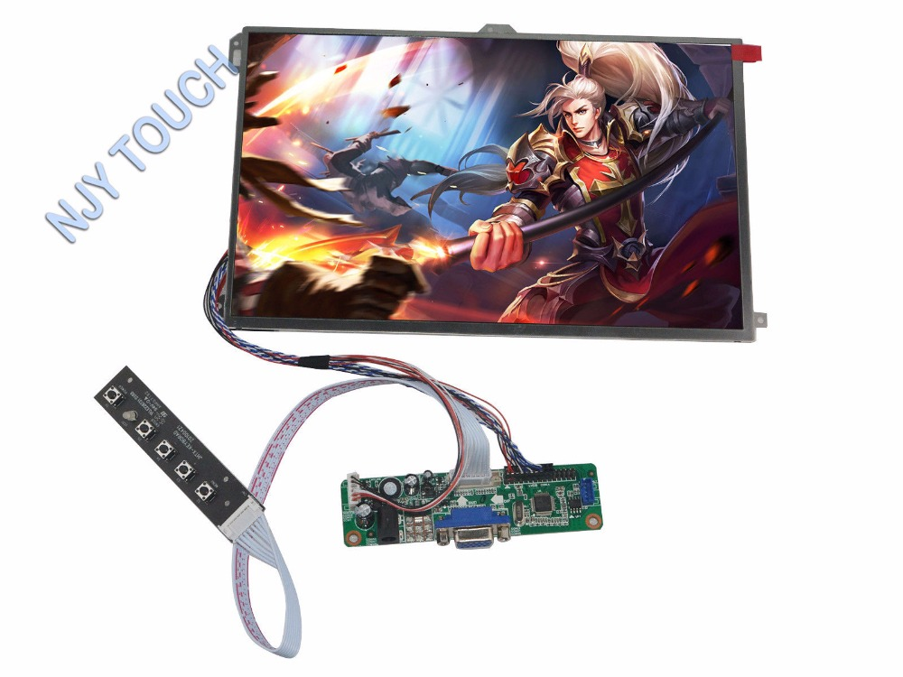 VGA LCD LVDS Controller Board Kit Plus 10.1 inch LP101WX1-SLP2 1280x800 IPS LED Panel free shipping 1280x800 lcd controller board vga lvds for ltn133at09 13 3 inch 1280x800 led display tft lcd panel full set diy