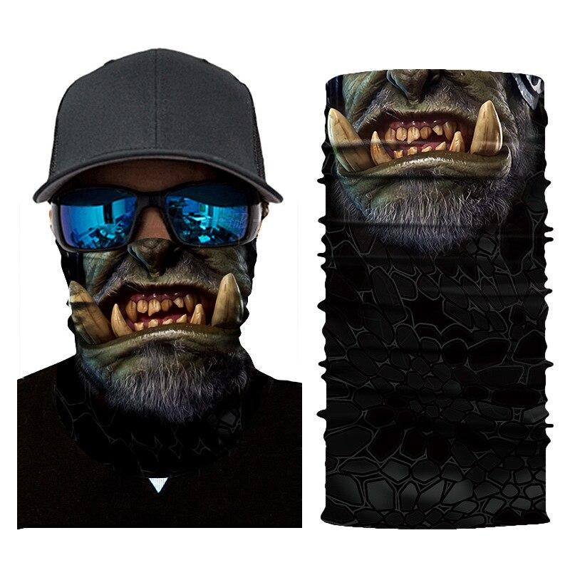 Skull Face Masks Scarf Ski Mask Ghost Balaclava Masks Cycling Head Scarf Neck Halloween Party Face Mask