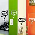 Environmental PVC Kitchen home instructions logo stickers Wall Sticker Vinyl Decal Home Decor Decal  Black&White wall stickers