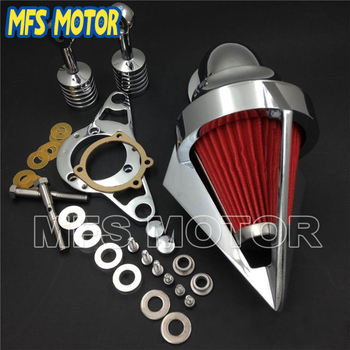 Motorcycle Part for  Softail Fat Boy Dyna Street Bob Wide Glide Chrome Cone Air Cleaner