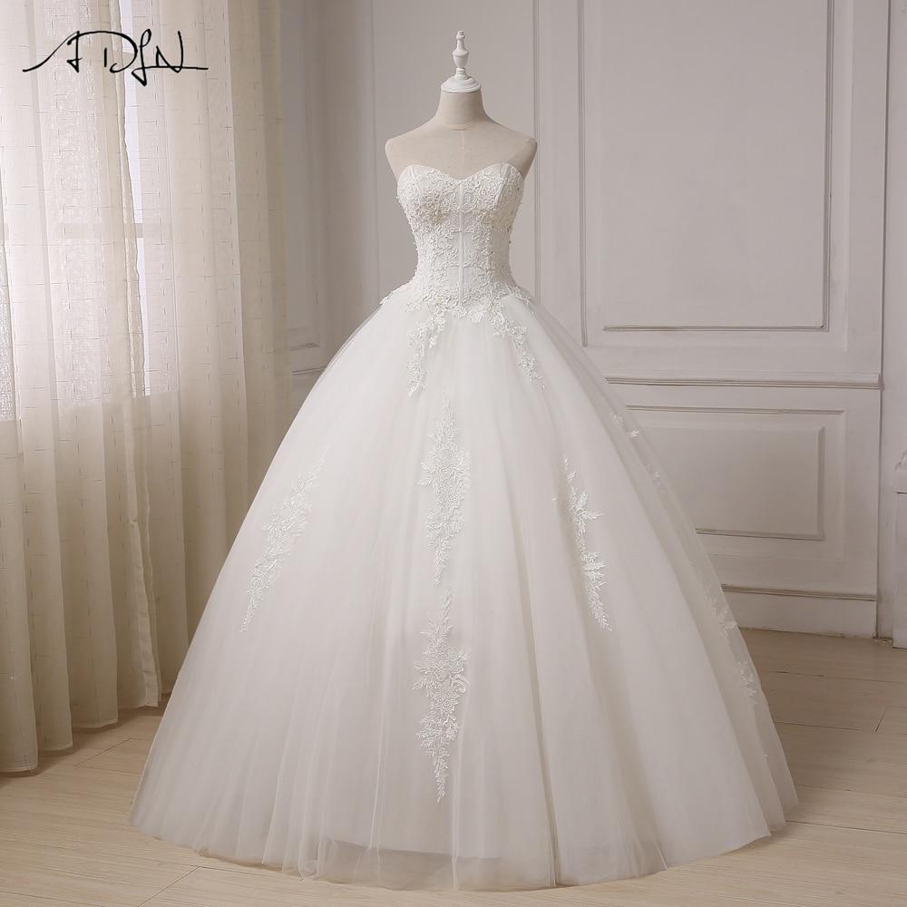 ADLN Real Pictures Ball Gown Bridal Dress Vintage Applique Plus Size Wedding Dress Princess Floor Length