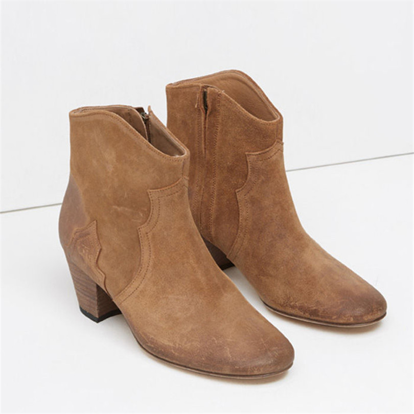 2017 Round Toe Schoenen Vrouw Botines Mujer Ankle Boots For Women Zapatos Mujer Botas Mujer Chaussure Femme Shoes Women Boots