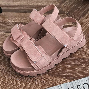 Sandals female 2019 new summer sneakers womens shoes Harajuku style flat bottom wild thick muffin casual