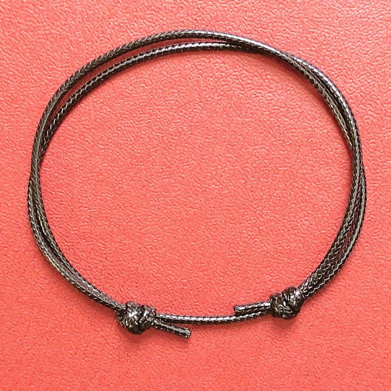 Новые простые ножные браслеты Регулируемые веревки счастливый браслет на ногу аксессуары для девушек женщин
