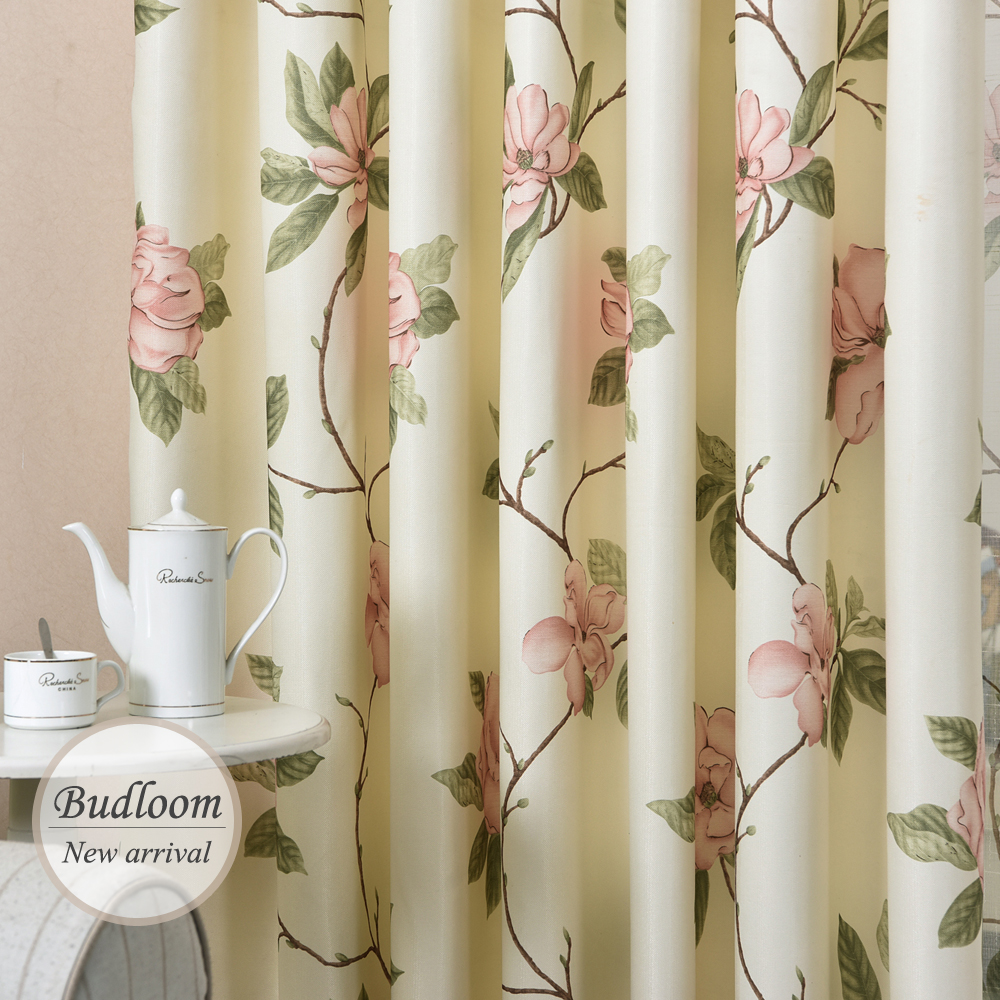 Modern Designed American Style Printed Flower Curtains For Living Room Window Drapes For Bedroom