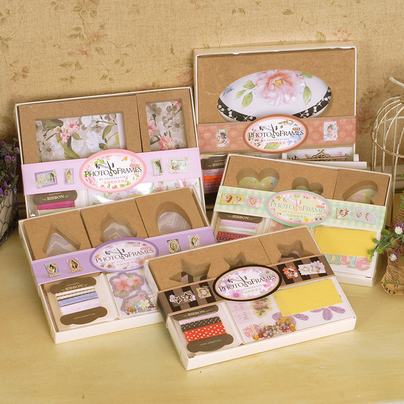 creative wood photo frames kit gift desk mini decorating wooden picture frames for kidsbaby
