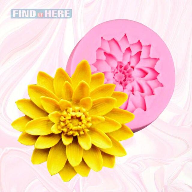 Fondant Cake Mold Lotus Flower Shape Silicone Gum Paste Candy Making