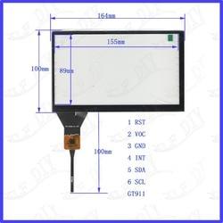 7 polegada ZhiYuSun Freeshipping YH-CTP8318 164*100 compatível tela Capacitiva de vidro Para GPS DO CARRO 164mm * 100mm GT911