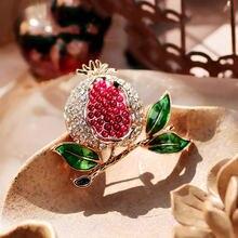 Ювелирные изделия farleena изысканная брошь в виде красного