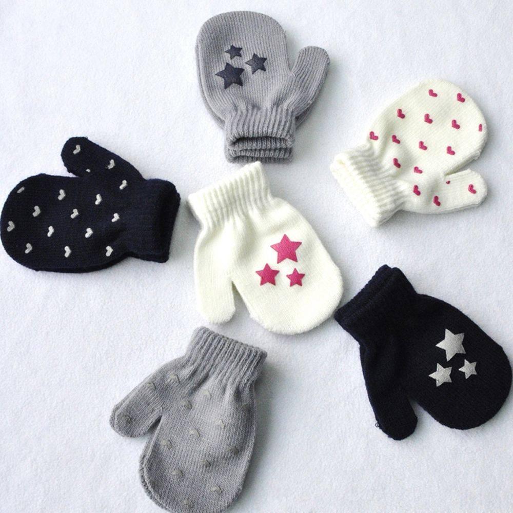 Tienda Online Guantes suaves de punto cálidos para bebé con diseño ...