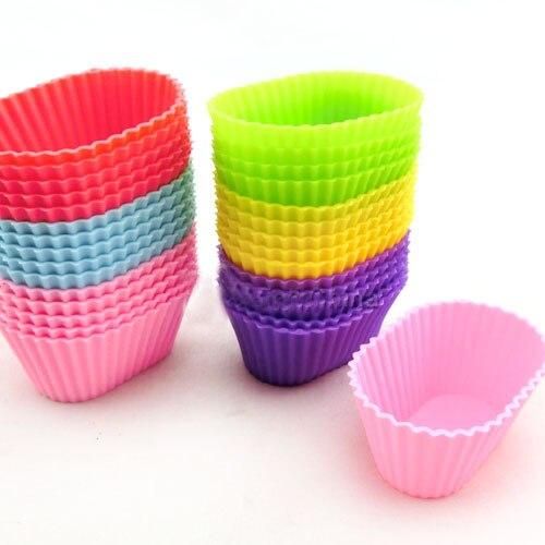 6pcs/set <font><b>High</b></font> <font><b>Quality</b></font> <font><b>Oval</b></font> <font><b>Shape</b></font> <font><b>Soft</b></font> <font><b>Silicone</b></font> <font><b>Mould</b></font> Candy Muffin Cup Cake <font><b>Silicone</b></font> Cake Cakecup Tools Cookie Cutter