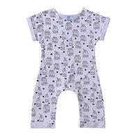 Newborn Kid Baby Boy Infant Print Romper 2017 new arrival fashion Jumpsuit Playsuit Outfit Clothes Age 0-24M