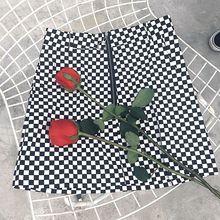 FREE SHIPPING Mini Skirts Black White Checkerboard JKP240