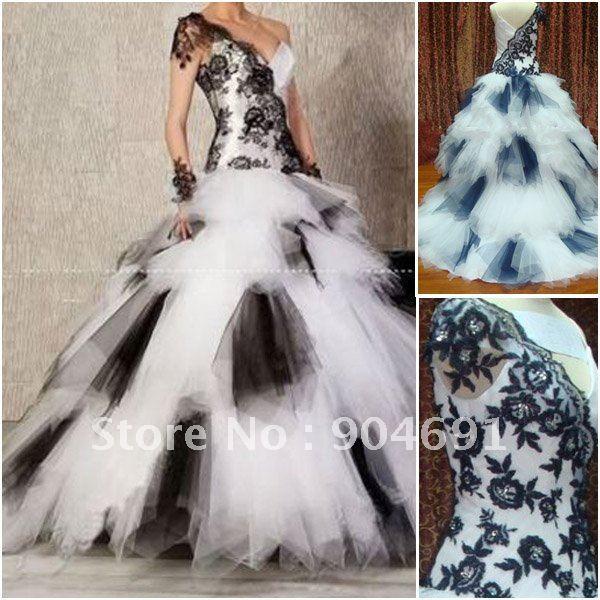White Layered Prom Dress
