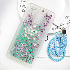 Phone Case For Huawei Honor 5C Crown Glitter Liquid Soft TPU Cases for Huawei GR5 Mini Silicone Fundas Back Covers Coque Chain
