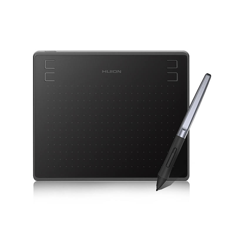 Huion Newest <font><b>HS64</b></font> 6x4 inch Graphic Tablet Digital Drawing Tablet with Battery-Free Stylus Compatible for Android Windows MacOS image