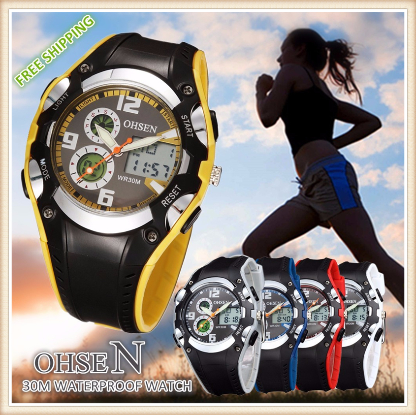 Original OHSEN Brand Quartz Sport Watch Wristwatch Children Boys Kids Gift Waterproof Led Sports Silicone Band Fashion Watches (7)