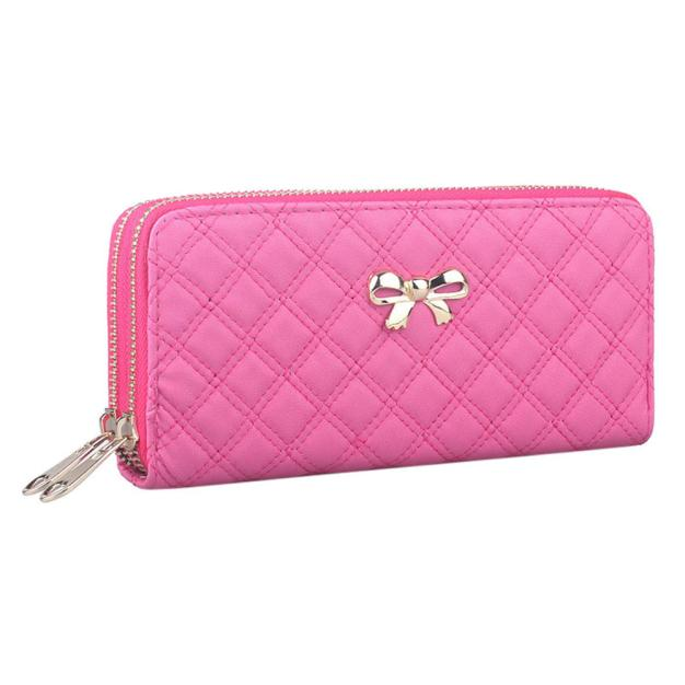 PU Leather Wallets Women Fashion Credit Card Holder Ladies Elegant Zipper Long Cluth Coin Purse Wallet Female Carteira #YL new multifunction man wallets 3 colors mens pu leather zipper business wallet card holder pocket purse hot plaid pouch fashion