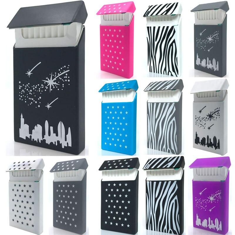 [inFour+] New Stars 10.5*5.8*1.4CM Lady Slims Silicone Cigarette Case Fashion Cover Elastic Rubber Women Cigarette Box Sleeve