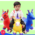 New Arrival 24 kinds of animals Children's inflatable toys jumping horse Maccabees thick increase environmental music baby gift
