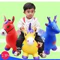 Nueva Llegada 24 tipos de animales Para Niños juguetes inflables caballo de salto Macabeos de espesor aumento ambiental regalo de música para bebés