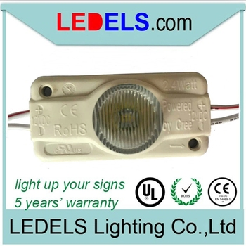 12V 2.4W high power led modules for single-side lightbox, 2.4W Edge led modules for signs