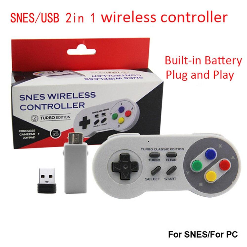 2,4G беспроводной геймпад контроллер для NAND SNES NES wii Classic mini  Edition игровой джойстик Gamapads встроенный аккумулятор