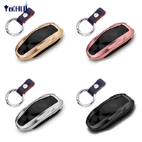 For Tesla Model S Aluminum Alloy Car Smart Key Case Cover Remote Control Key Shell Protector